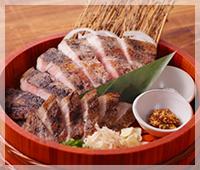 四万十米豚のわら燻り焼き