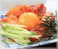 特製ダレ 海鮮ユッケ