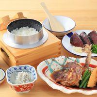 真鯛のかぶと煮とわら焼き鰹のたたき定食