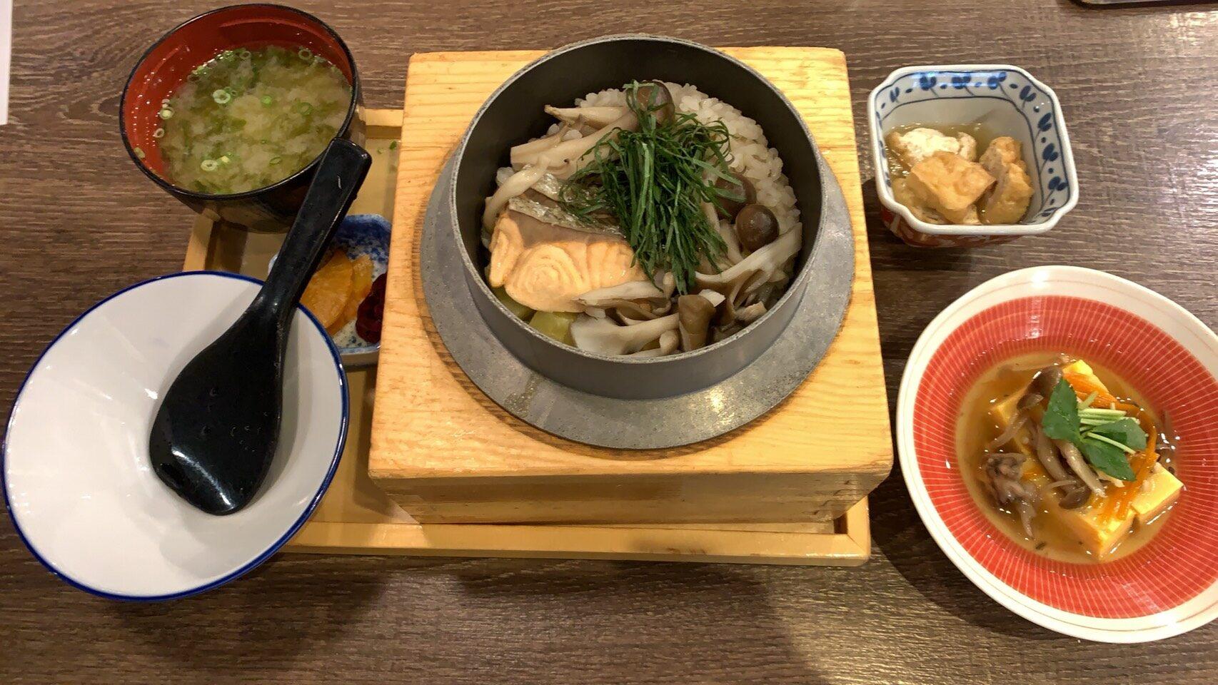 秋鮭釜飯ランチ