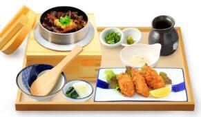 牛タンしぐれ釜めしと牡蠣フライ定食