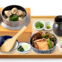 広島産 牡蠣釜めしと鰤の竜田揚げ定食
